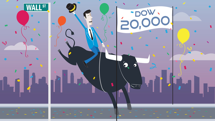 Why the Dow Jones hitting 20K is meaningless